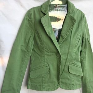 American Eagle outfitters green blazer jacket Sm